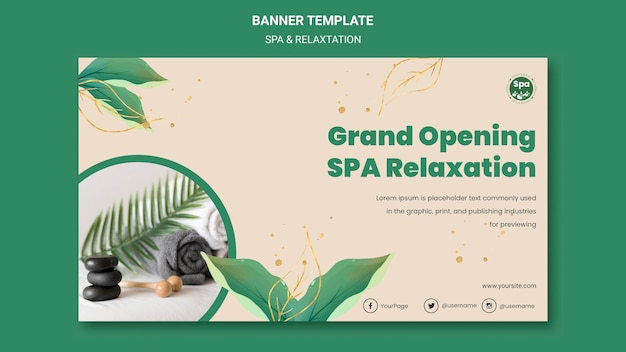 Spa concept banner template Free Psd