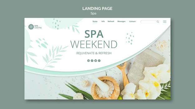 Modello di pagina di destinazione del concetto di spa Psd Gratuite