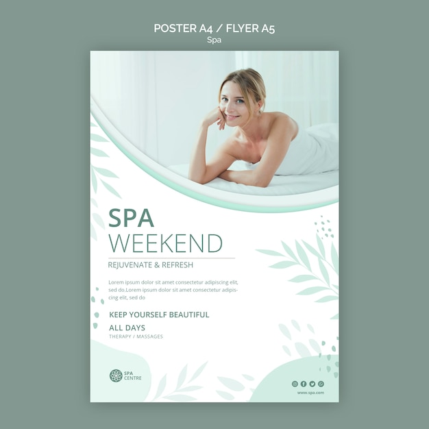 Spa concept poster template Free Psd