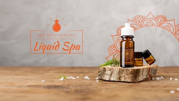 Spa massage with natural products Free Psd