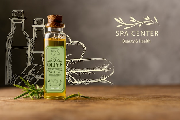 Spa treatment with natural cosmetics Free Psd