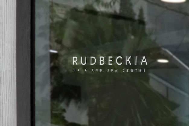 Макет логотипа окна спа-салона Бесплатные Psd
