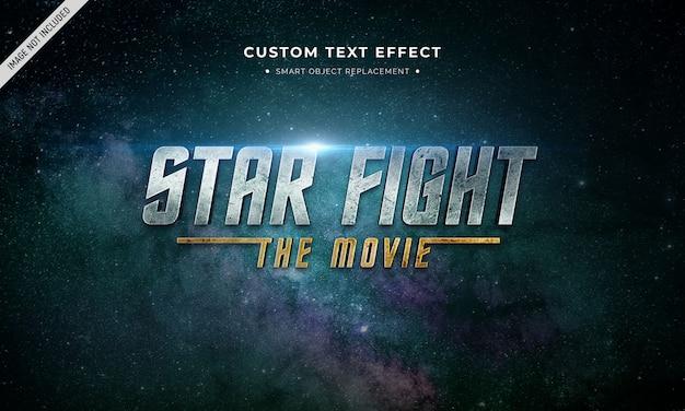 Космический фильм 3d эффект стиля текста Premium Psd