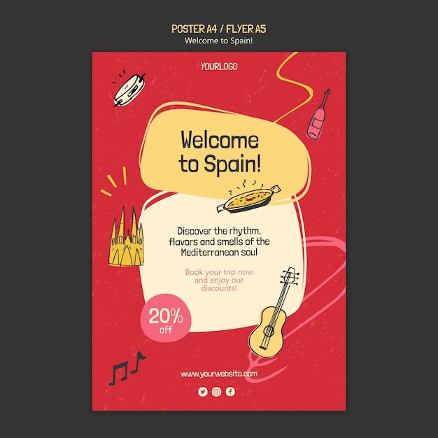 Modello di poster della cultura spagnola Psd Gratuite