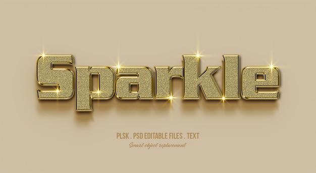 Sparkle 3d text style effect Premium Psd