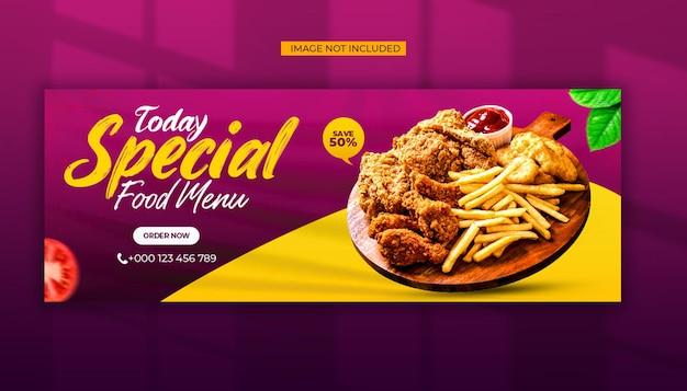 Special food menu social media and facebook cover post template Premium Psd