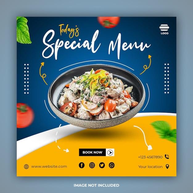 Special food social media post banner templates Premium Psd