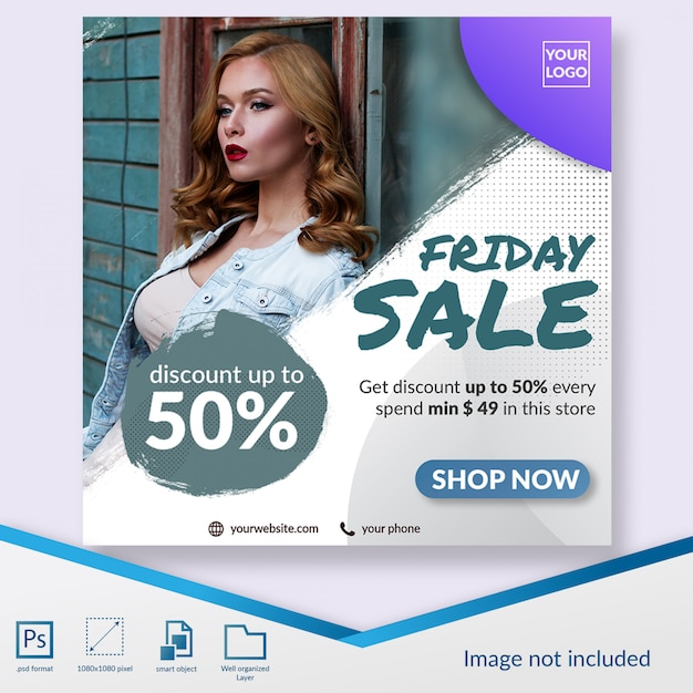 Special friday sale fashion sale social media post template Premium Psd