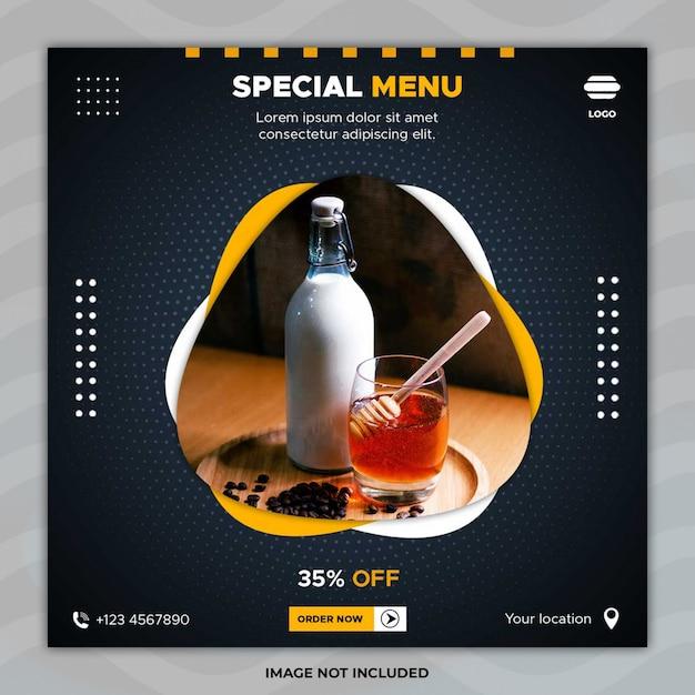 Special menu banner template Premium Psd