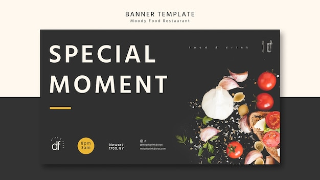 Special moment banner template Free Psd