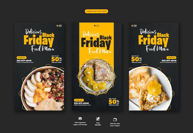 Special offer black friday instagram and facebook story banner template Free Psd