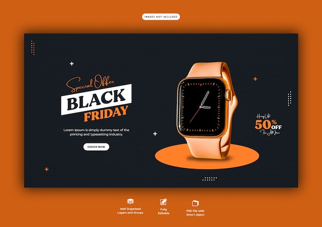Special offer black friday web banner template Free Psd