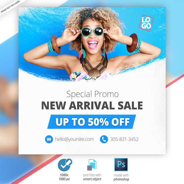 Special offer sale web social media banner Premium Psd
