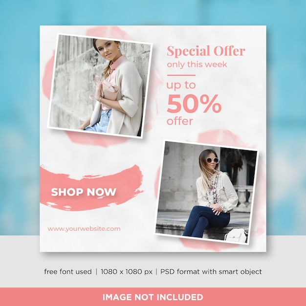 Special offer square banner Premium Psd
