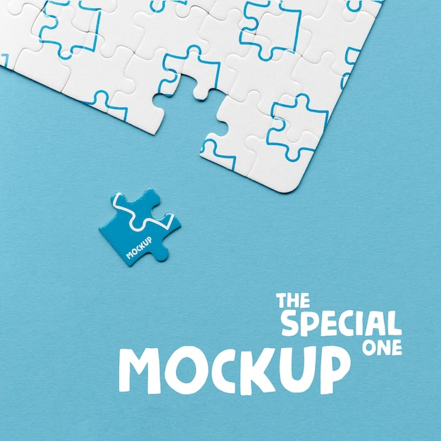 The special one piece of puzzle concept mock-up Free Psd