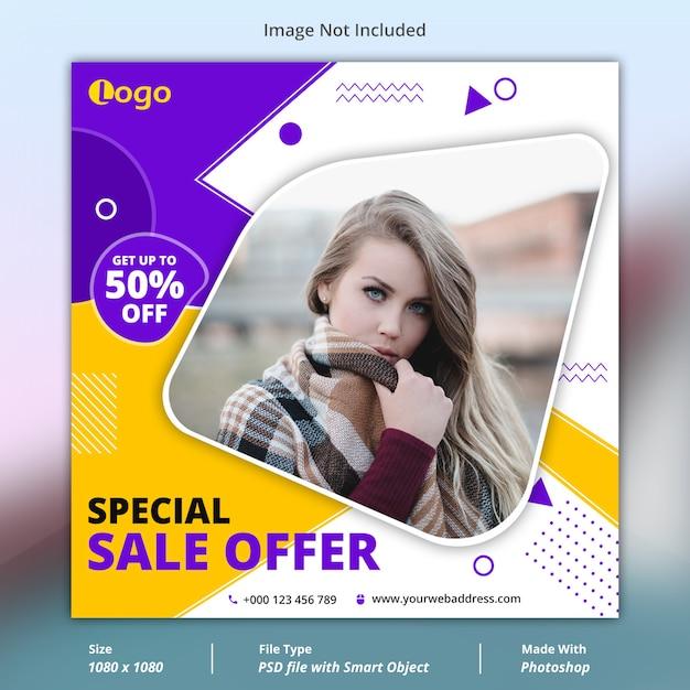 Special sale offer social media banner template Premium Psd