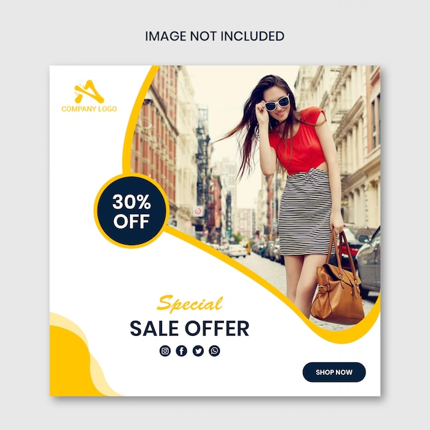 Special sale offer social media post template design Premium Psd