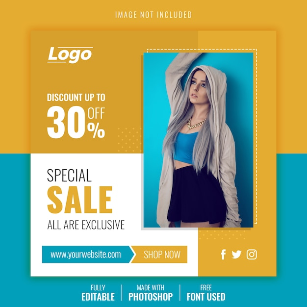 Special sale  post template Premium Psd