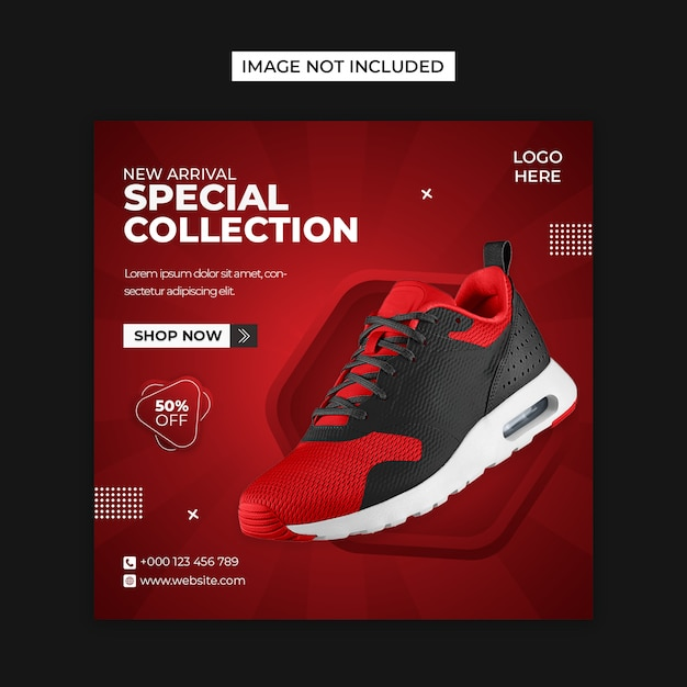 Special shoes social media and instagram post template Premium Psd