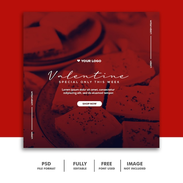 Special valentine post for social media Premium Psd