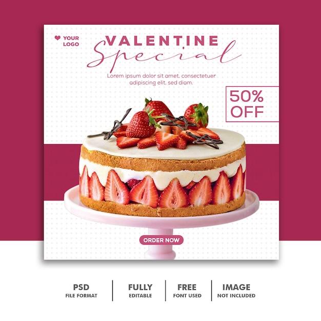 Специальный пост продажи валентина для социальных сетей Premium Psd