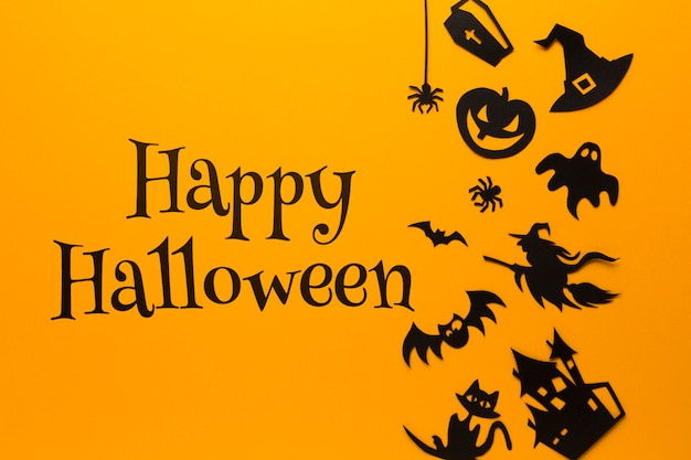 Specific art drawn on halloween day Free Psd