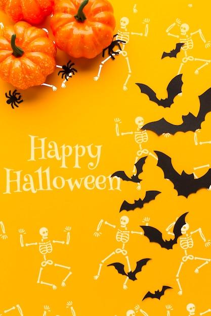 Specific halloween day skeleton draw Free Psd
