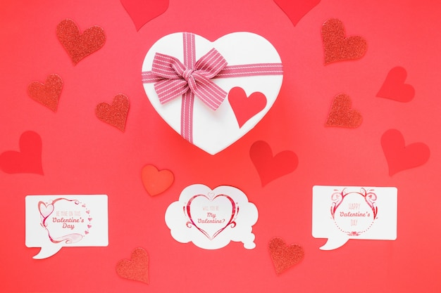 Speech Bubble Card Mockup With Valentine Concept Psd File Free