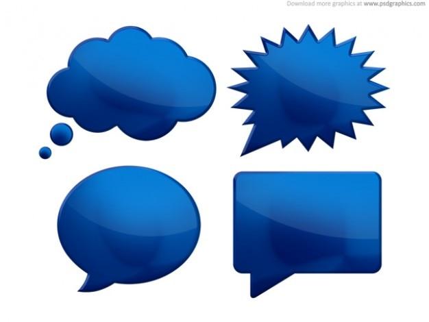 speech bubbles psd free psd