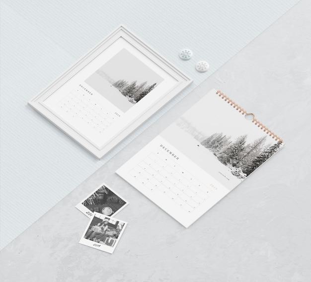Спиральная книжная ссылка и концепция рисования для календаря Бесплатные Psd