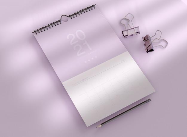 나선형 달력 모형 무료 PSD 파일