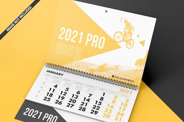 Спиральный календарь с макетом отрывных листов Premium Psd