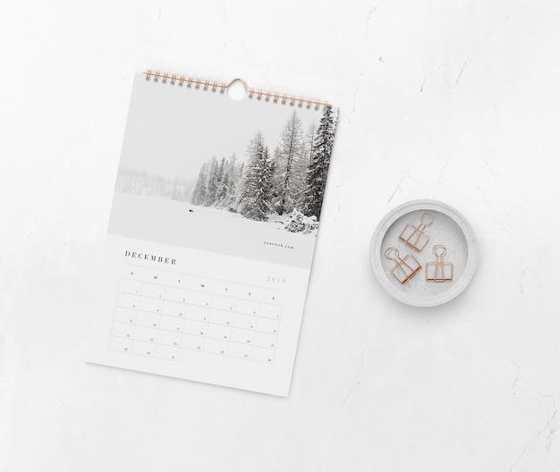 Спиральная ссылка на книгу для календаря Бесплатные Psd