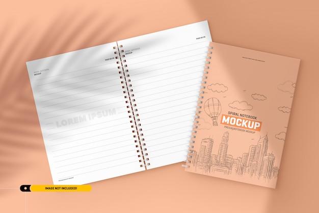 Spiral notebook mockup Premium Psd