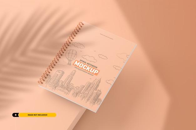 Спиральная тетрадь макет Premium Psd