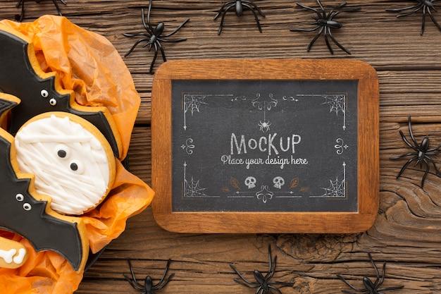 Mock-up di concetto di halloween spettrale Psd Gratuite