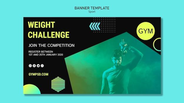 Sport banner business template Free Psd