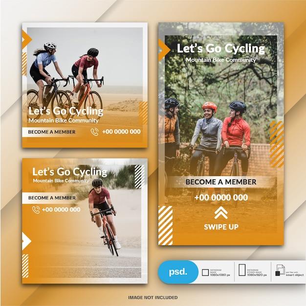 Sport banner template Premium Psd