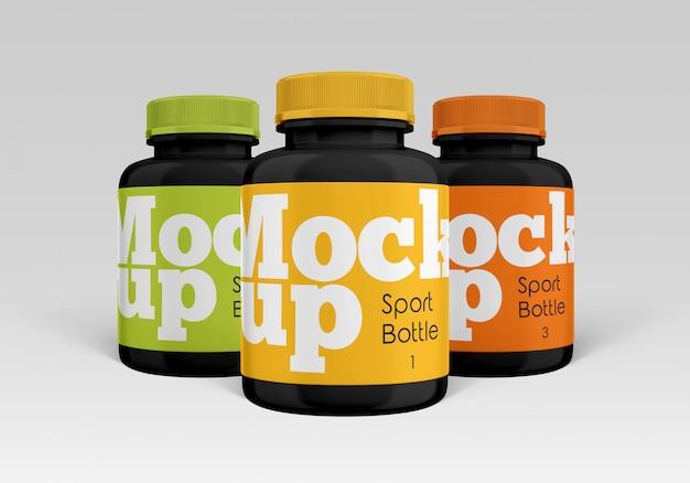 Sport bottle mockup Premium Psd