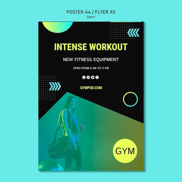 Sport business template flyer Free Psd