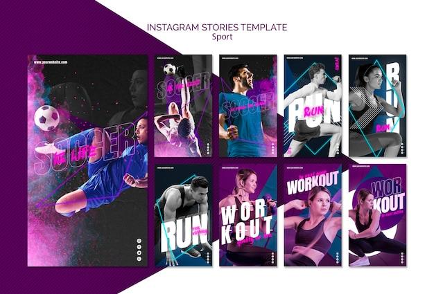 Sport concept social media post Free Psd