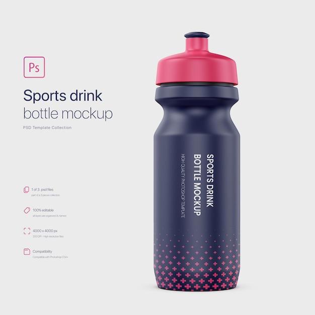 Спортивный напиток бутылка макет Premium Psd