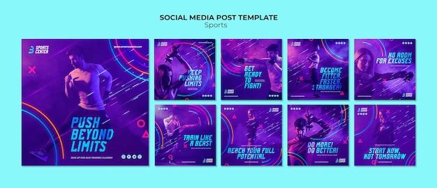 게시물 템플릿-스포츠 인스 타 그램 무료 PSD 파일