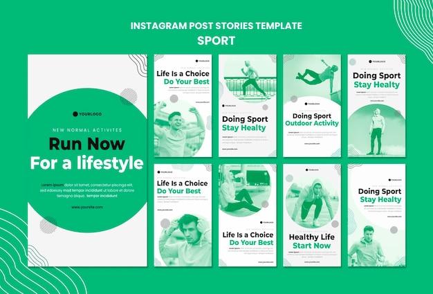 Sport instagram stories template Premium Psd