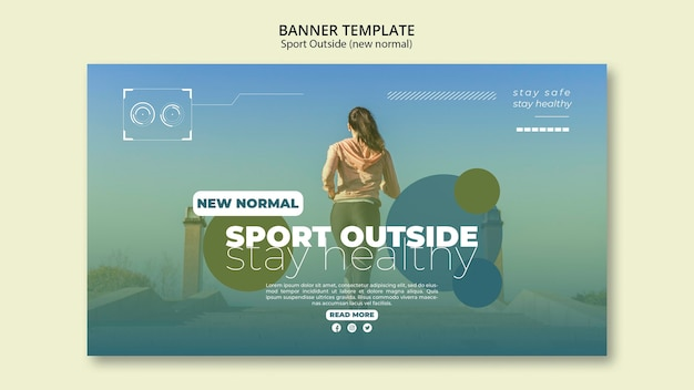 Sport outside banners concept Free Psd