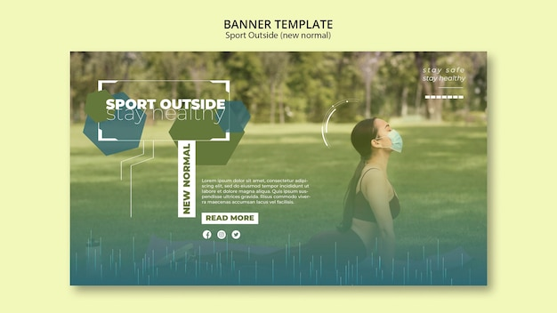 Sport outside banners design Free Psd