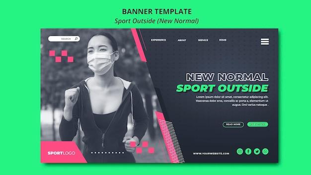 Sport outside concept banner design Free Psd