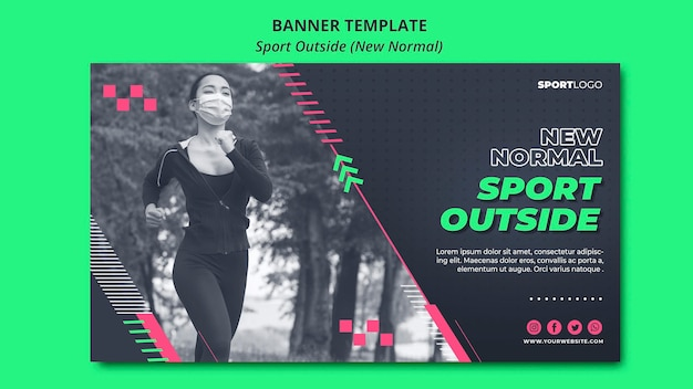 Sport outside concept banner style Free Psd