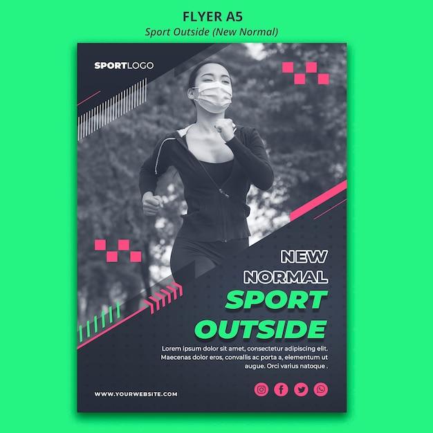 Sport outside concept flyer design Free Psd