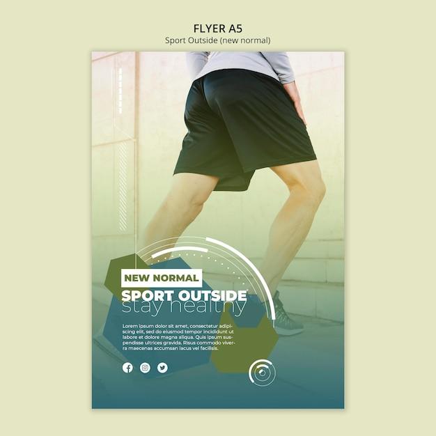 Sport outside flyer template design Free Psd